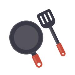Icono de sarten para freir