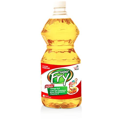 Aceite vegetal superfry de 1420 mililitros