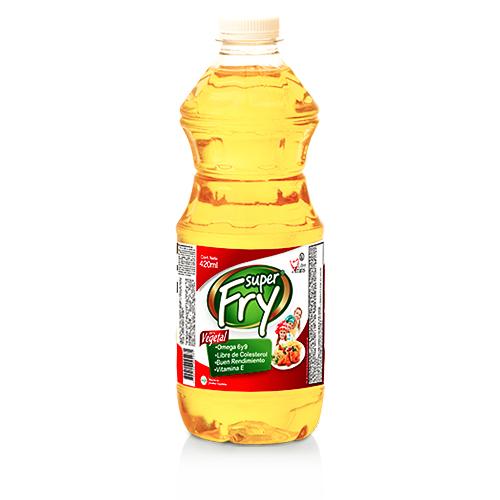 Aceite vegetal superfry de 420 mililitros